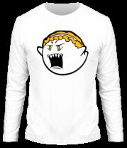 Мужская футболка с длинным рукавом Злое привидение