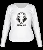 Женская футболка с длинным рукавом Drum and bass