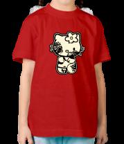Детская футболка  Kitty zombie glow