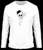 Мужская футболка с длинным рукавом Привидение с сигаретой