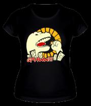 Женская футболка  Годзилла (светящийся)