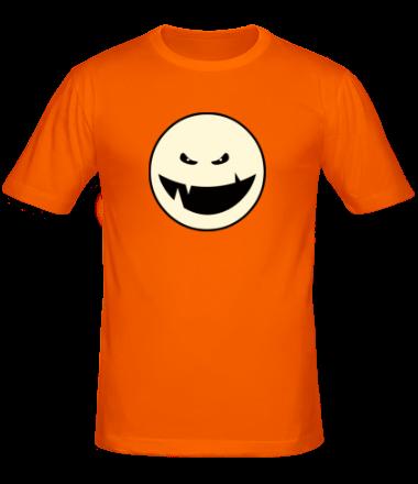Мужская футболка  Монстр с клыками смайл