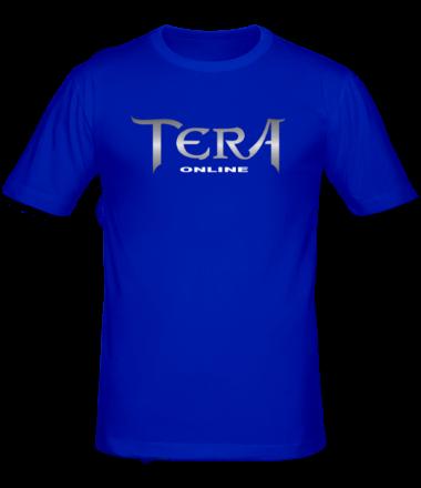 Мужская футболка   Tera online - logo