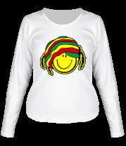Женская футболка с длинным рукавом Смайл растаман
