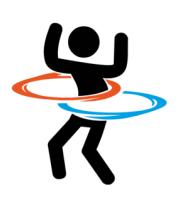 Мужская футболка с длинным рукавом Portal (Портал) хулахуп