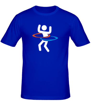 Мужская футболка  Portal (Портал) хулахуп