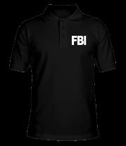 Футболка поло мужская FBI
