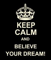 Женская майка борцовка Keep  calm and believe your dream!