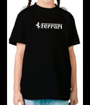 Детская футболка  Ferrari