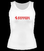 Женская майка борцовка Ferrari