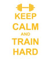 Женская майка борцовка Keep calm and train hard