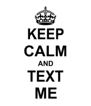Футболка для беременных Keep calm and text me