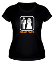 Женская футболка  Game Over