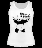 Женская майка борцовка Gangsta Panda