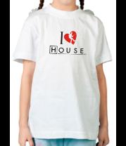 Детская футболка  I Love House