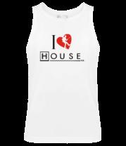Мужская майка I Love House