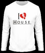 Мужская футболка с длинным рукавом I Love House