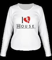 Женская футболка с длинным рукавом I Love House