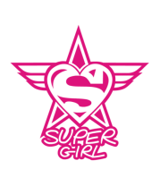 Женская футболка с длинным рукавом Super Girl