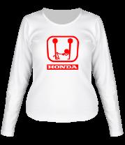 Женская футболка с длинным рукавом Honda (эро)