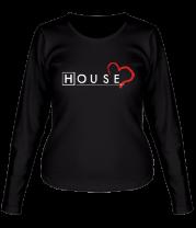 Женская футболка с длинным рукавом House Love