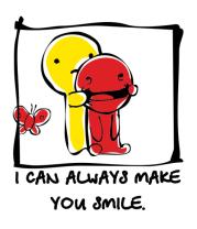 Мужская майка I can Always Make You Smile