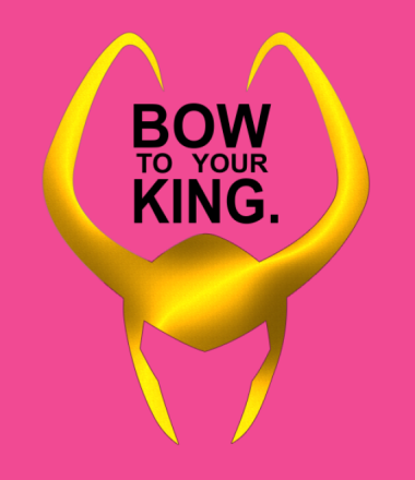 Женская футболка  Bow to your king