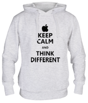 Толстовка худи Keep calm and think different