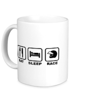 Кружка Eat Sleep Race