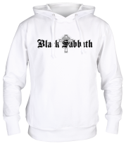 Толстовка худи Black Sabbath text with logo