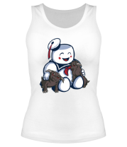 Женская майка борцовка Ghostbusters Stay Puft