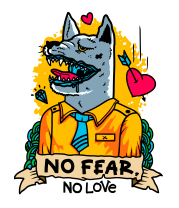 Чехол для iPhone No fear, no love