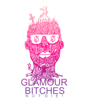 Женская майка борцовка Glamour bitches notdie!