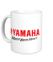 Кружка Yamaha. Revs your heart.