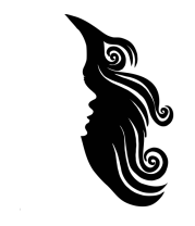 Толстовка без капюшона Woman's Face and Hair Negative Space