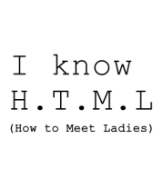 Толстовка I know H.T.M.L (how to meet ladies)