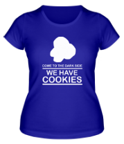 Женская футболка  Come to DS we have Cookies